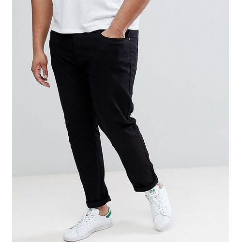 Burton Menswear PLUS Tapered Jeans In Black - Black, kolor czarny