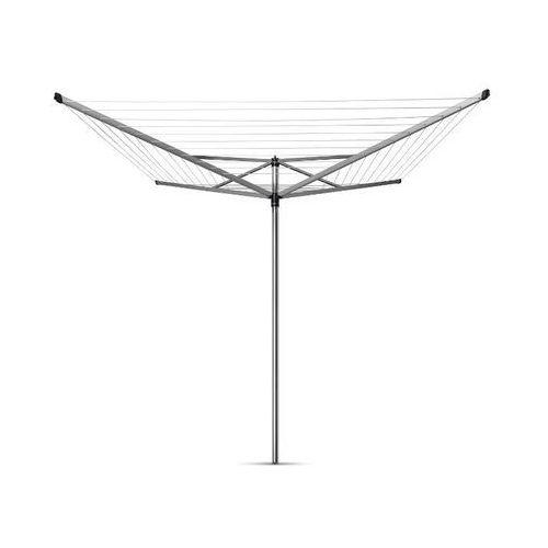 Brabantia - suszarka ogrodowa topspinner 60m, 4 ramiona - mocowanie stalowe (do gruntu)