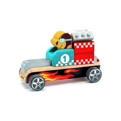 Djeco Drewniany składany samochód bolid