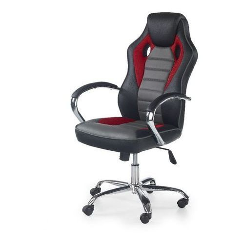 Helix fotel gamingowy dla graczy czarno-czerwono-popielaty marki Style furniture