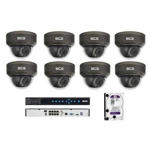 Bcs -p-214rwsa-g zestaw bcs point 8 kamer 4 mpx 4tb hdd rejestrator poe. idealny do obserwacji placów zabaw, parków rozrywki i pływalni.