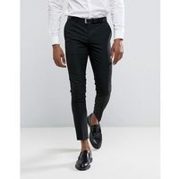 River island super skinny fit smart trousers in black - black