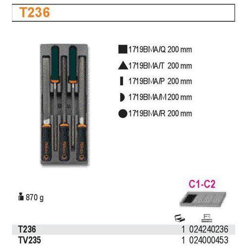 Wkład profilowany twardy z zestawem pilników 1719bma, q-t-p-m-r, 5 sztuk, model 2424/t236 marki Beta