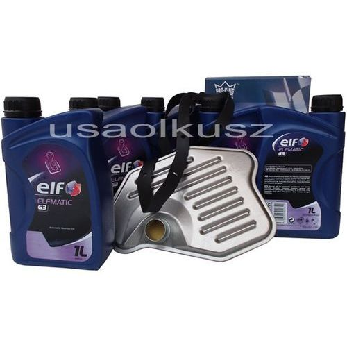 Filtr oraz olej g3 automatycznej skrzyni biegów ford mustang 1996-2004 marki Elf