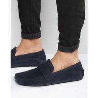 driving shoes in navy suede - blue, Red tape