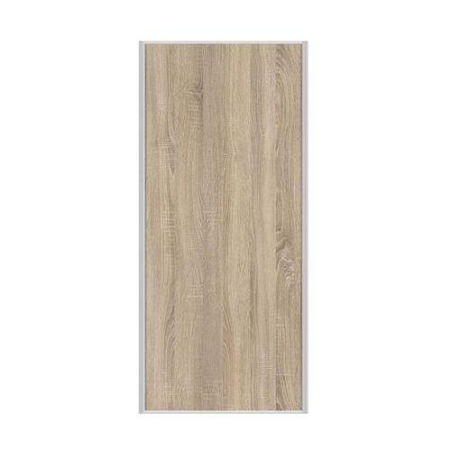 Drzwi przesuwne do szafy dąb sonoma 98.7 cm marki Spaceo