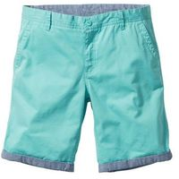 Bermudy chino z wywiniętymi nogawkami regular fit zielony, Bonprix