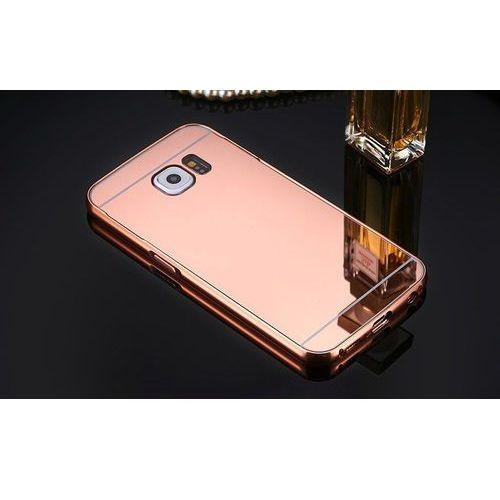 Mirror bumper  metal case różowa   etui dla samsung galaxy s6 - różowy