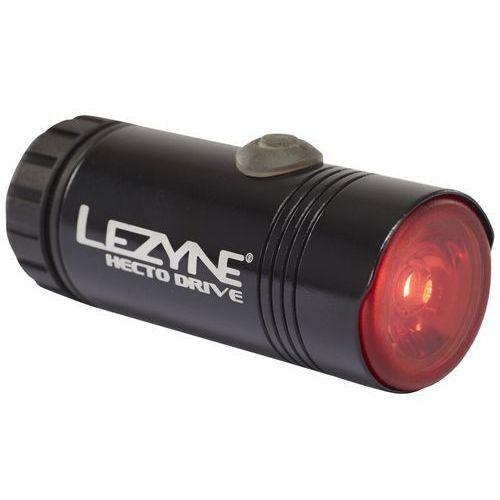 Lezyne hecto drive - tylna lampa rowerowa led usb 15 lm (czarny) (4712805980079)
