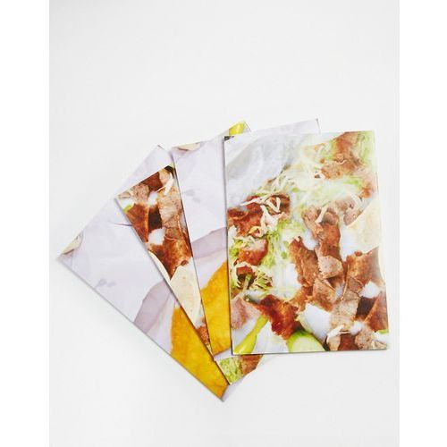 Brainbox Candy Fast Food Gift Wrap 4 Sheets - Multi