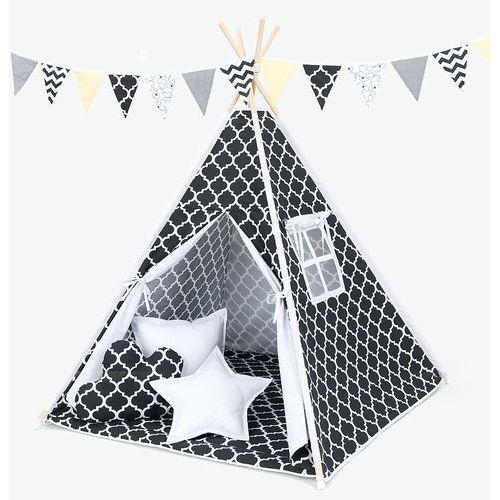 namiot tipi maroko czarne / biały marki Mamo-tato