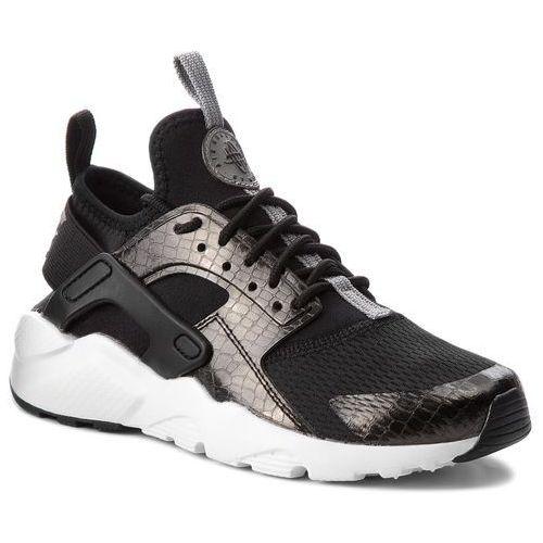 Nike Buty - air huarache run ultra gs 847569 021 black/mtlc pewter/black white