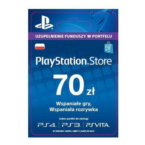 Sony PlayStation Network 70 zł [kod aktywacyjny] z kategorii Kody i karty pre-paid
