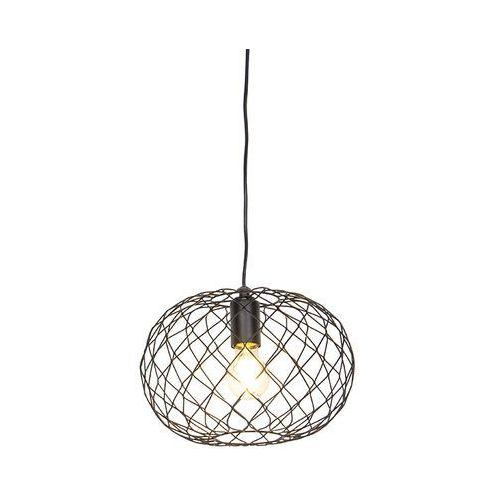 Designerska lampa wisząca czarna - Helian