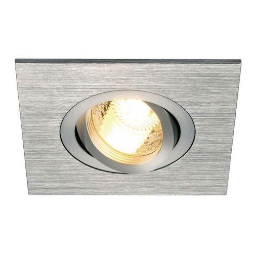 Oczko new tria gu10 xl kwadratowe aluminium szczotkowane, 113456 marki Spotline