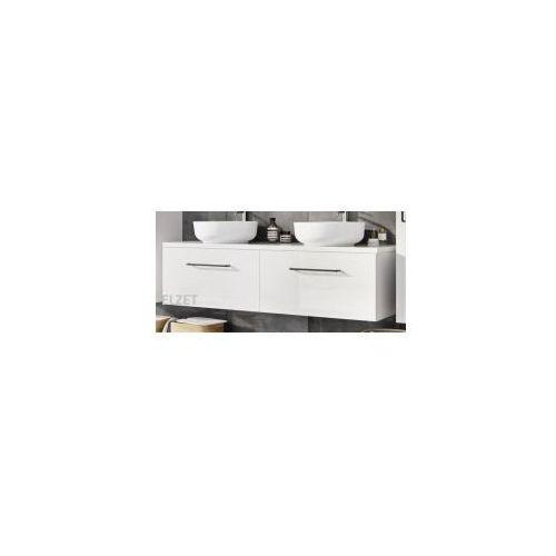ELITA szafka Futuris white pod umywalkę nablatową + blat 140 white 2x166932.167046