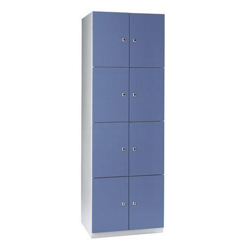 Szafa z półkami, 8 półek, 1800x600x500 mm, drzwi niebiesko-szare. solidna, spawa marki Eugen wolf