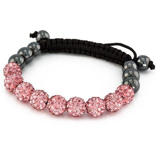 Cloe Bransoletka shamballa exclusive diamonds light rose - light rose