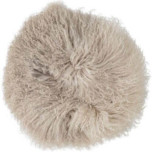 Bloomingville Poduszka lambskin mongolian 35 cm naturalna