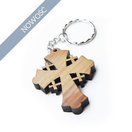 Brelok z drewna oliwnego Krzyż