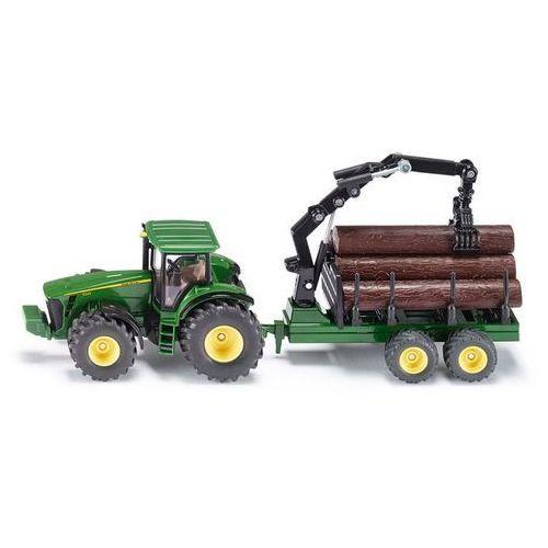 farmer 1954 traktor john deere z przyczepą leśną 1:50 marki Siku
