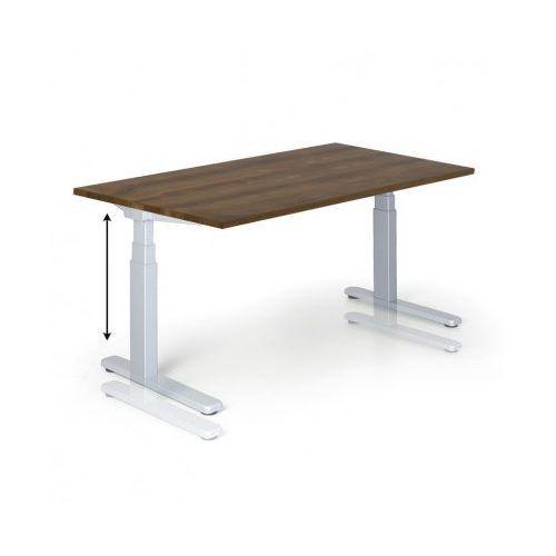 B2b partner Stół z regulacją wysokości, 675-1275 mm, ręczny, 1600 x 800 mm, orzech