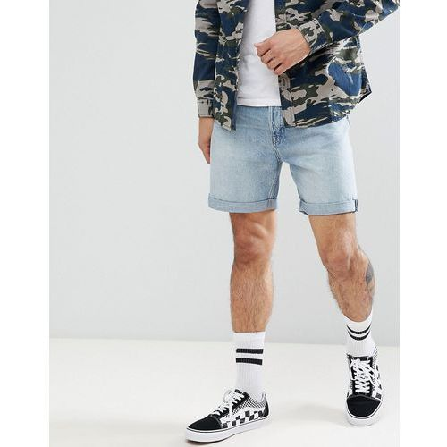vacant denim shorts in light blue - blue, Weekday