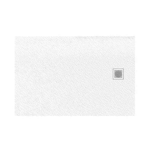 Brodzik prostokątny 100x80 biały New Trendy Mori B-0432 UZYSKAJ RABAT W SKLEPIE (5902276332258)