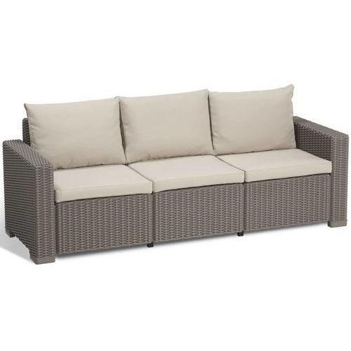 Allibert sofa ogrodowa california, 7 części, cappuccino, 231564