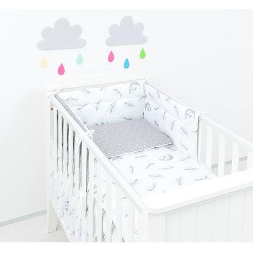 Mamo-tato ochraniacz do łóżeczka 60x120 wróżki szare / mini gwiazdki białe na szarym
