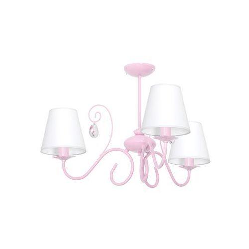 Decoland Dziecięca lampa wisząca laura 3xe14/60w/230v jasnoróżowa