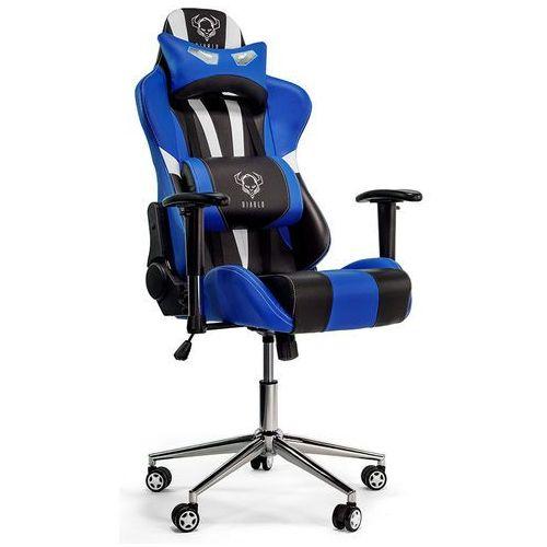 Fotel DIABLO CHAIRS X-Eye Czarno-biało-niebieski + Zamów z DOSTAWĄ JUTRO! (5902560332421)