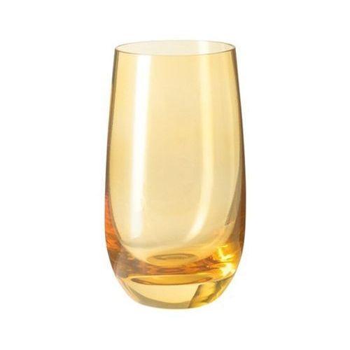 Lo - szklanka 390 ml, żółta, colori marki Leonardo