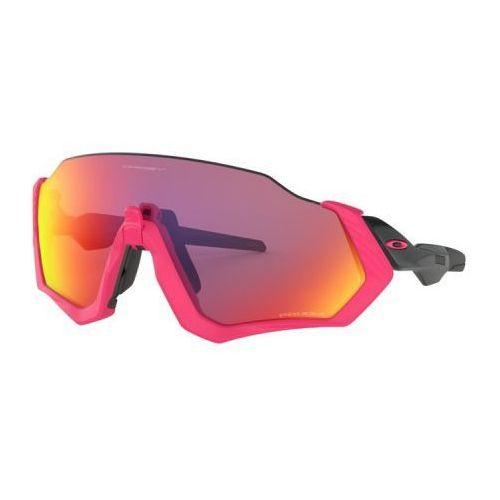 Oakley Okulary flight jacket neon pink/polished black prizm road oo9401-0637