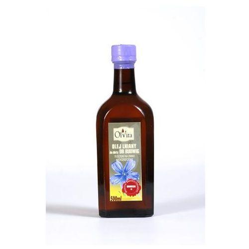 Olej lniany 500ml budwigowy tłoczony na zimno marki Olvita