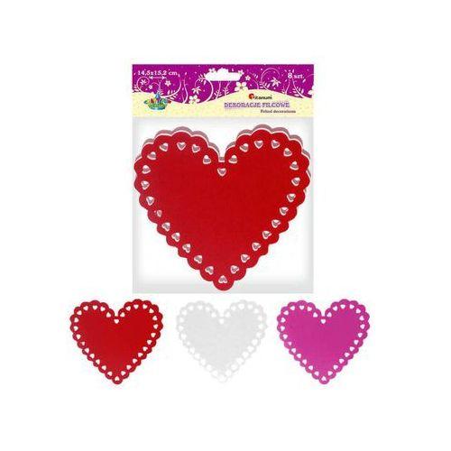 Serca serce filcowe dekoracje 145x152mm 8szt marki Titanum