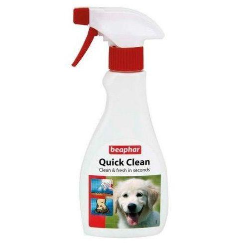 Quick clean 250ml spray do czyszczenia i usuwania brudu z sierści psa marki Beaphar