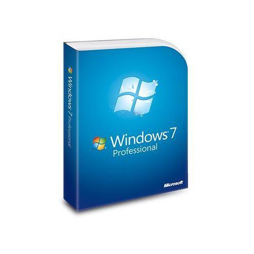 Windows 7 professional, 10 x naklejka z kluczem (coa) + 1 dvd 64-bit marki Microsoft