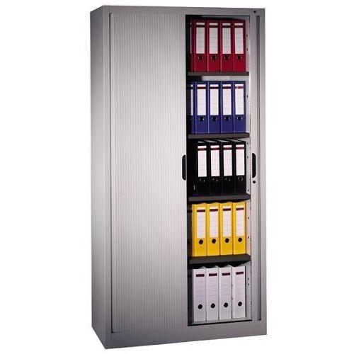 Metalowa szafa aktowa z drzwiami żaluzjowymi o wym.: 100x42x198 cm, 3202-00