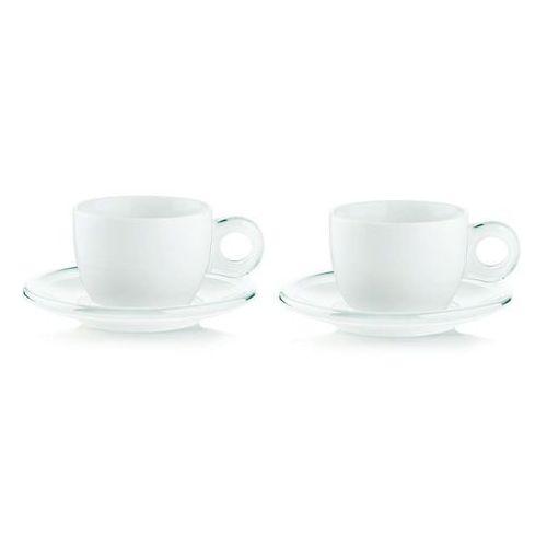 Guzzini - gocce - kpl. 2 filiżanek do cappuccino, biały - biały (8008392266938)