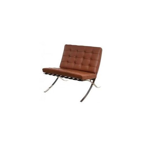 Fotel ba1 z podnóżkiem skóra (jasnobrązowy) d2 marki D2design