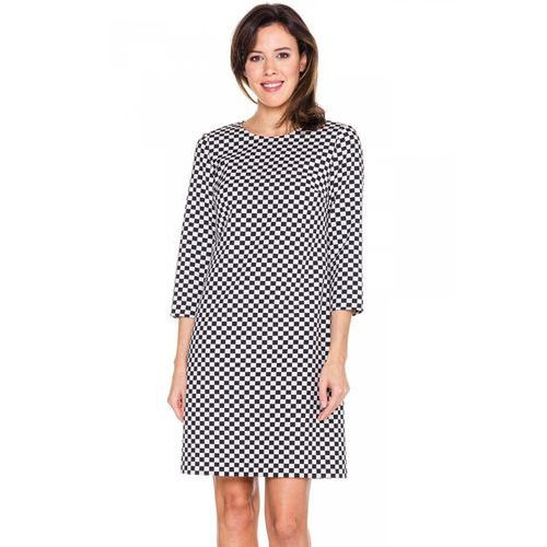 Sukienka w mini-szachownicę - Bialcon