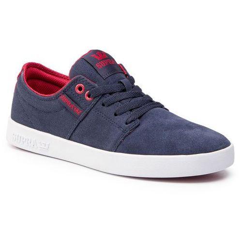 Supra Sneakersy - stacks ii 08183-460-m navy/rose/white