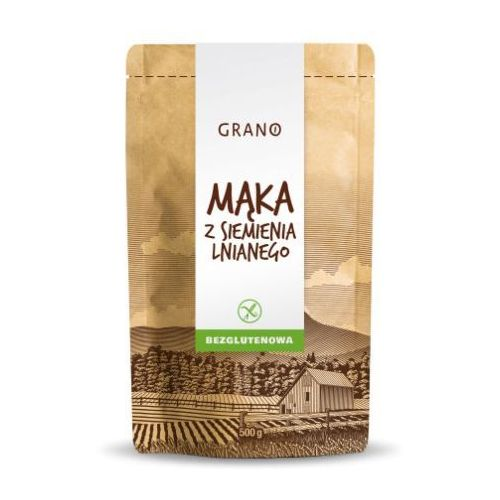 Mąka z siemienia lnianego BEZGL. 500 G - Grano