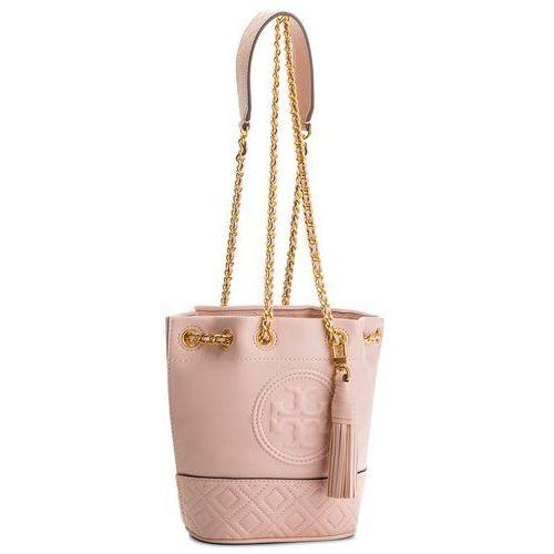Torebka TORY BURCH - Fleming Mini Bucket Bag 49321 Shell Pink 652, kolor różowy