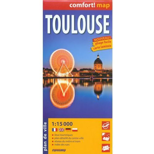 ExpressMap Tuluza Toulouse laminowany plan miasta 1:15 000, EXPRESSMAP