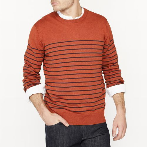 R essentiel Sweter z melanżowej wełny z okrągłym dekoltem