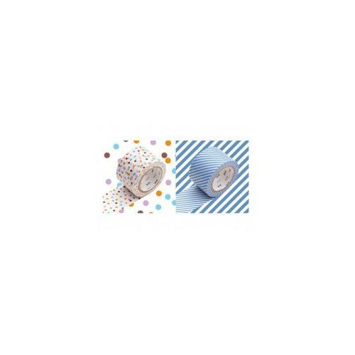 Taśma washi - zestaw drop lavender stripe light blue marki Masking tape mt