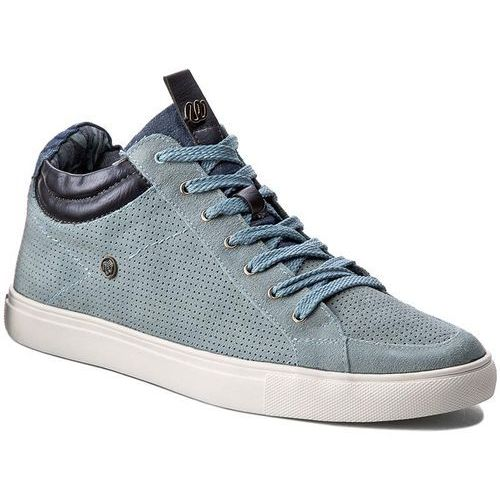 Sneakersy WRANGLER - Ivy Punch Mid WF07802SP Blue Jeans 384, kolor niebieski