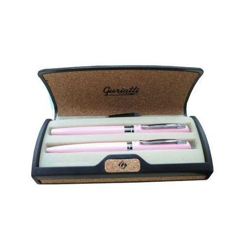 Komplet długopis z piórem różowy ADRIANA 839161 - Spokey
